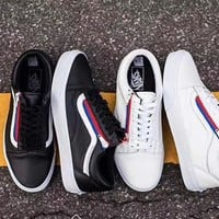 Women  Men Vans old skool ZIP lovers leisure skateboard shoes