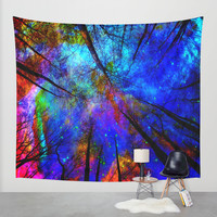 Colorful forest Wall Tapestry by Haroulita