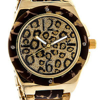 *MKL Accessories The On Leopard Time Watch in Gold : Karmaloop.com - Global Concrete Culture