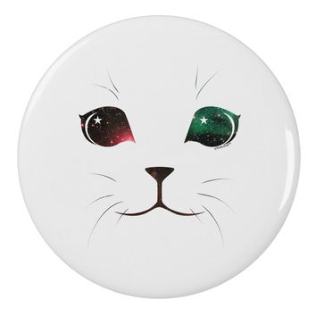 "Adorable Space Cat 2.25"" Round Pin Button by"