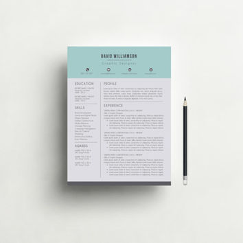Resume Template and Cover Letter Template for Word, DIY Printable 3 Pack, Instant Download, Professional and Creative Resume Design