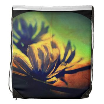 Floral Sunset View Drawstring Backpack