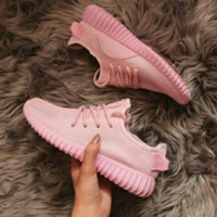 """Fashion """"Adidas"""" Women Yeezy Boost Sneakers Running Sports Shoes Pink"""