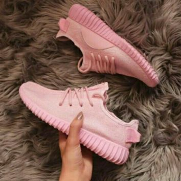 "Fashion ""Adidas"" Women Yeezy Boost Sneakers Running Sports Shoes Pink"