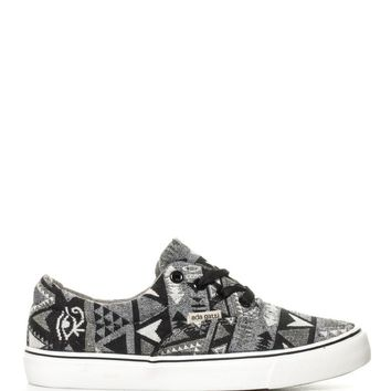 Ethnic Print Canvas Shoes