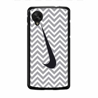 Nike Logo Chevron Graydc Nexus 5 Case