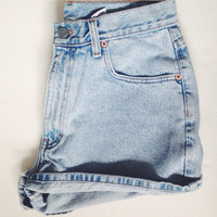Vintage Calvin Klein High Waisted Denim Shorts