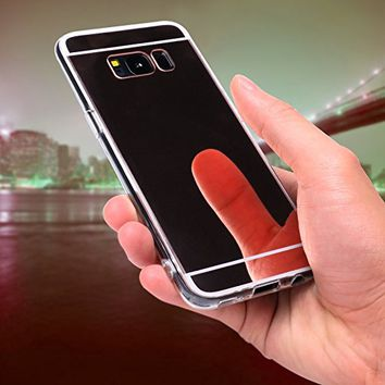 s8 PLUS MIRROR Galaxy CASE COVER Samsung DURABLE PROTECTION TPU Silicone (BLACK)