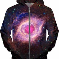 Third Eye in Space [Helix Nebula] Pink | Universe Galaxy Nebula Star Clothes | Rave & Festival Shirt