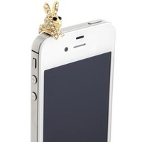 Rhinestone Bunny Cell Phone Plug: Charlotte Russe