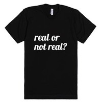 Real Or Not Real? Hunger Games tee-Unisex Black T-Shirt