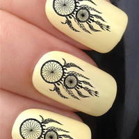 Black Print Dream Catcher Water Transfer Nail Decal Nail Art Design