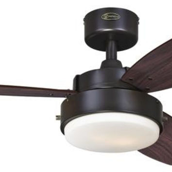 Alloy 42-Inch Reversible Three-Blade Indoor Ceiling Fan