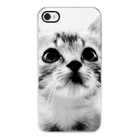 iPhone Case - Cat Lover - Cat photography - Sweet Kitten - Apple iPhone 4/4s - Black & White black friday etsy cyber monday etsy