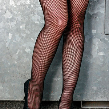 High Quality Dark Grey Fishnet Nylon Stockings Tights Pantyhose Small to Medium Size
