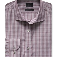Banana Republic Mens Monogram Italian Woven Check Shirt