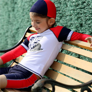 Excellent Kids Swimwear for Boys New Brand Summer Professional Sunscreen Swimsuits Children's Bathing Suit High Quality Hot Sale