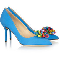 Charlotte Olympia Desiree crepe de chine pumps – 60% at THE OUTNET.COM