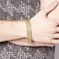 ASOS Bracelet With Double Chain