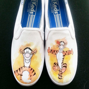 Winnie The Pooh Tigger themed Custom Made Shoes