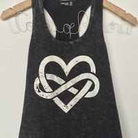 Infinity Heart Graphic Top
