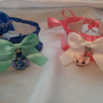 Stitch & Angel; Lilo and Stitch Inspired, Pet Play Collar.