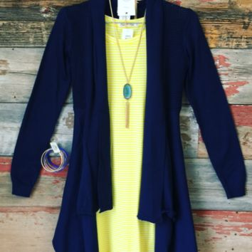 Just Another Dream Cardi: Navy