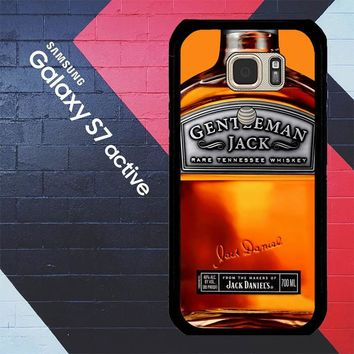 Gentleman Jack Daniels Rare Tennessee Whiskey L2167 Samsung Galaxy S7 Active Case