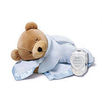 The Original Slumber Bear with Silkie Blanket - Blue