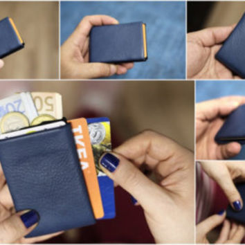 Mens Wallet, Minimalist Wallet, Womens Wallet, Leather Wallet, RFID Wallet, Limited Edition - RFID Blocking - Original Nero Wallet