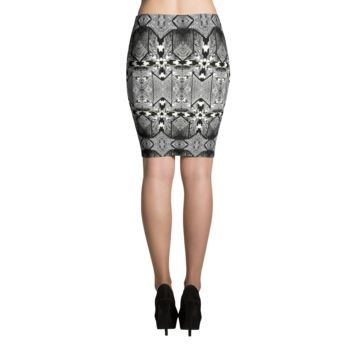 """CAPTIONS"" Houndstooth Pencil Skirt"