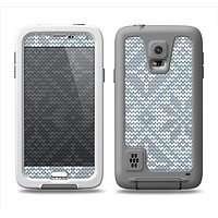 The Knitted Snowflake Fabric Pattern Samsung Galaxy S5 LifeProof Fre Case Skin Set