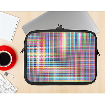 The Neon Faded Rainbow Plaid Ink-Fuzed NeoPrene MacBook Laptop Sleeve