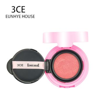 3CE Eunhye House Brand Air Cushion Blush Bronzer Makeup Mineralize Blusher Cheek Sleek Cosmetics Soft Powder Make Up