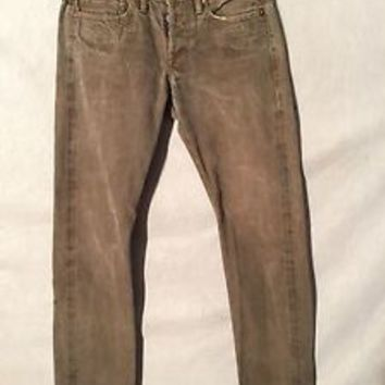 A305 RRL Sanded Gray USA Made Selvedge Cool Jeans Women's Measured 29x32