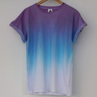 ANDCLOTHING — Purple Blue Horizon Dip Dye Tee