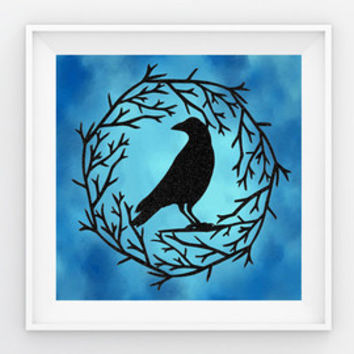 Raven Papercut - Raven Art - Crow Art - Raven decor - Woodland Decor - Gothic Wall Art - Metaphysical Art - Spiritual Art