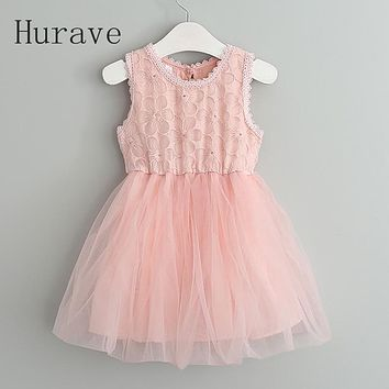 New casual kids clothes lace girls dress for toddler floral children party dresses