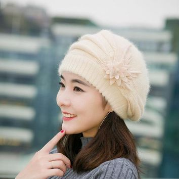 2016 Knitted Skullies Hats Top Quality Winter Warm Girl Hat Cap For Women Beanies Fashion All Match Stewardess Female Hats