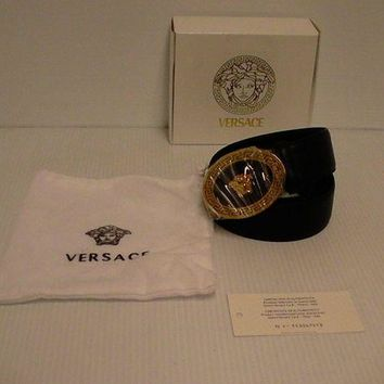 CHEN1ER Versace belt Genuine leather Medusa head size 105 cm made in Italy new