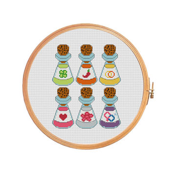 magic potion  Cross stitch pattern