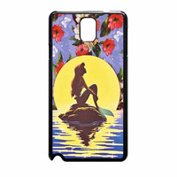 Ariel Little Mermaid Disney Flower Vintage Samsung Galaxy Note 3 Case