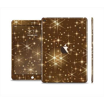 The Golden Glowing Stars Skin Set for the Apple iPad Air 2