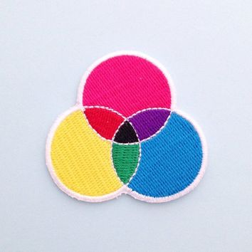 CMYK Patch. Iron on, 5.1 x 4.2cm. £1 UK shipping. ...