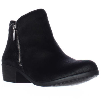 Lucky Brand Brand Basel2 Perforated Ankle Boots, Black, 6 US / 36 EU