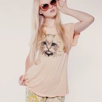 MR. WHISKERS HIPPY CREW at Wildfox Couture in  BUTTER, TEA ROSE