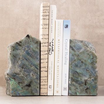 Labradorite Bookends - One of a Kind