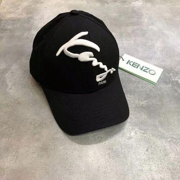 PEAP2Q kenzo embroidered logo cap in black