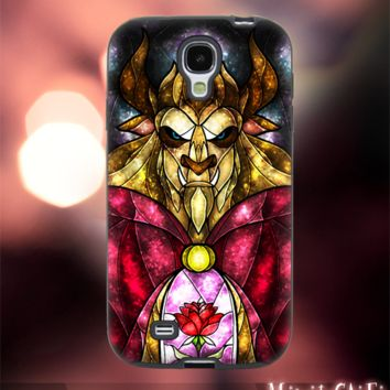 MC1002Z,5,Beautiful and the beast,princess,wild -Accessories case cellphone-Design for Samsung Galaxy S5- Black case - Material Soft Rubber