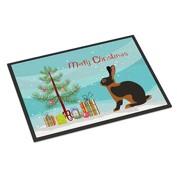 Tan Rabbit Christmas Indoor or Outdoor Mat 24x36 BB9330JMAT